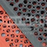 Rohož gumová SANITOP červená 90x150x1,4cm