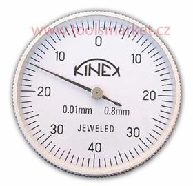 KINEX 1156.2 Úchylkoměr číselníkový páčkový ČSN251820 vertikální