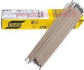 Obalená elektroda OK 48.00 4,0x450 balení 83ks 6,0kg ESAB bazická
