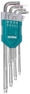 L-klíče TORX, sada 9ks, prodloužené, CrV, industrial
