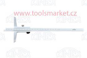 KINEX 2035 Hloubkoměr bez nosu ČSN251280 DIN862 200mm