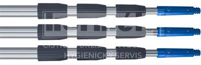 Teleskopická tyč LEWI 4-sekční, 4 x 100cm, 4 x 200cm, 4 x 250cm