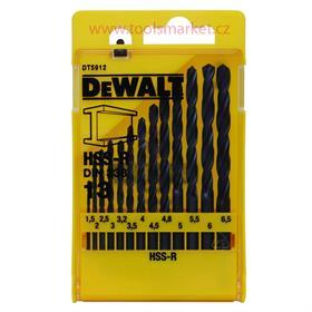DT5912 13-ti dílná sada vrtáků do kovu HSS-R DIN 338 DeWALT