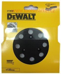 Náhradní talíř pro excentrickou brusku D26453 suchý zip 125mm DeWALT DT3600