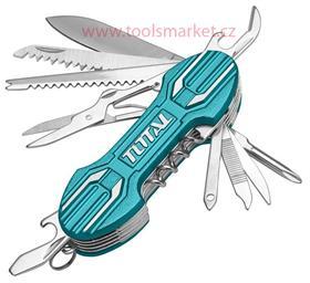 Nůž kapesní zavírací, 15 dílný, nerez, 95mm